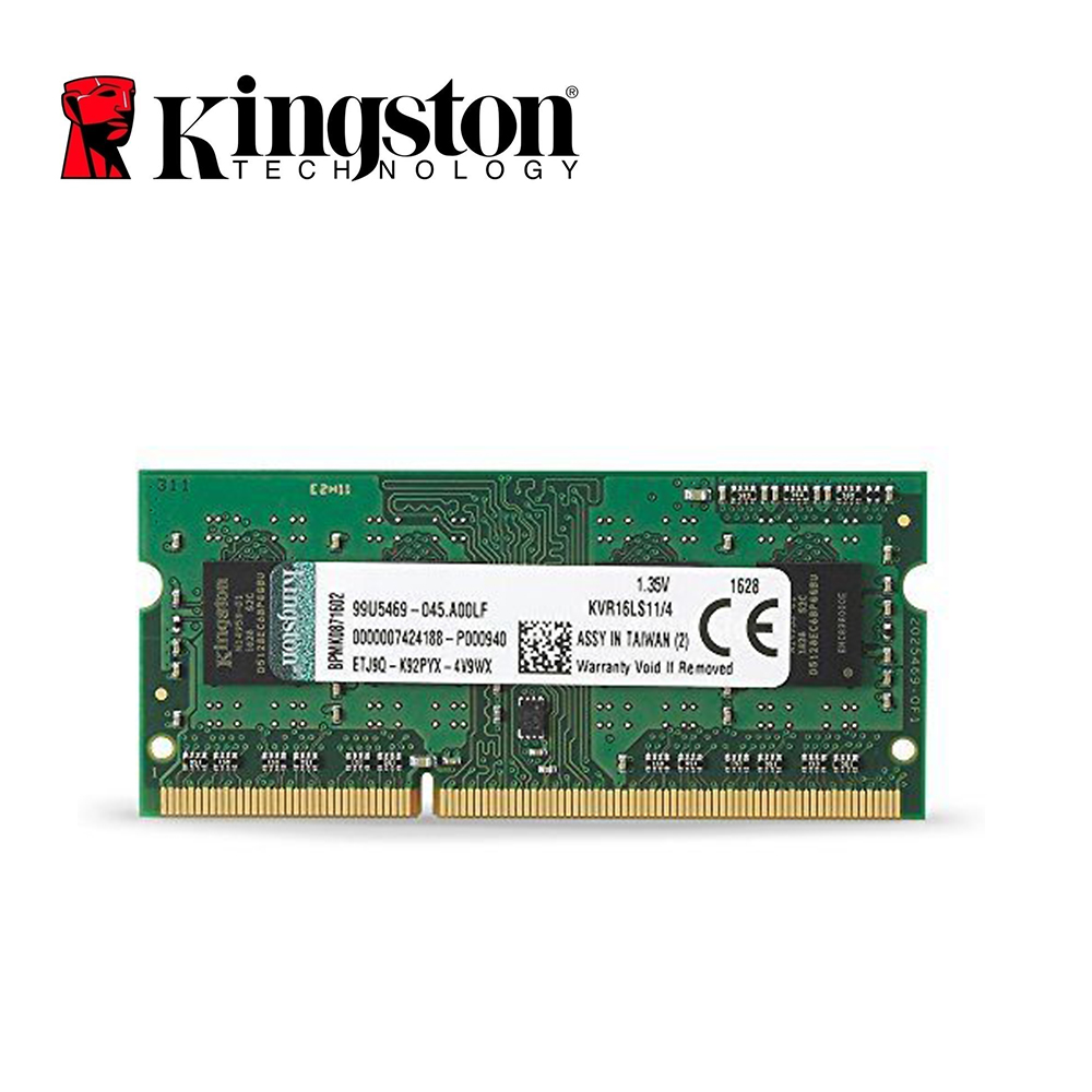 Kingston 4 GB PC3-12800S DDR3 1600 MHz 4 GB CL11 204pin 1,35 V memoria portátil Notebook SODIMM RAM