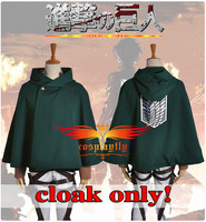 Attack on Titan The Recon Corp Scouting Legion Levi Rivaille Rival Ackerman Mantle & Cloak & Cape Only Cosplay Costume