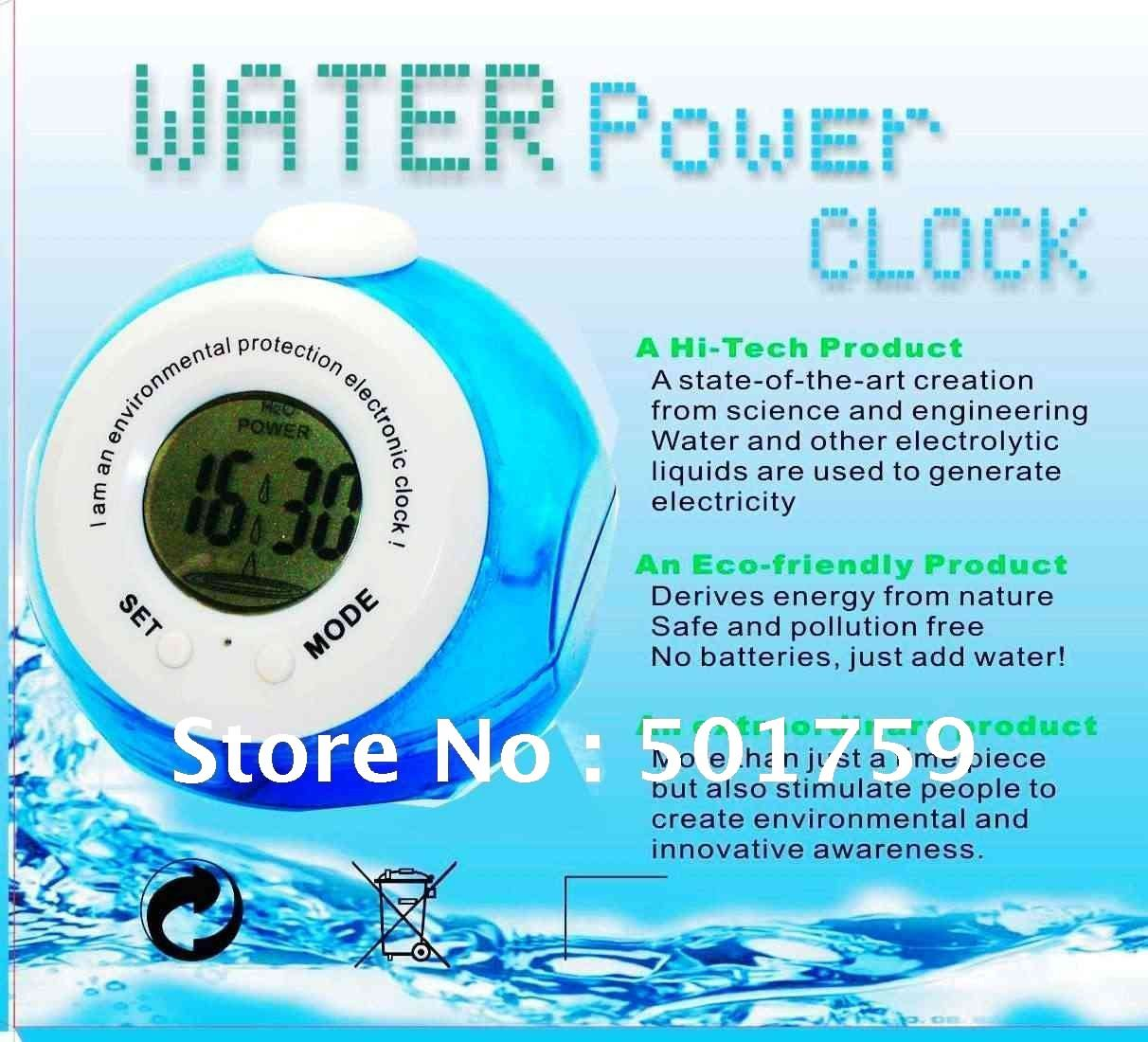 Water Power Clock Teenagers Innovative Products