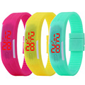 2016 New Famous Brand Jelly LED Digital Watch Women Silicone Bracelet Watches Relogio Feminino Clock Children Cartoon Watch Hot