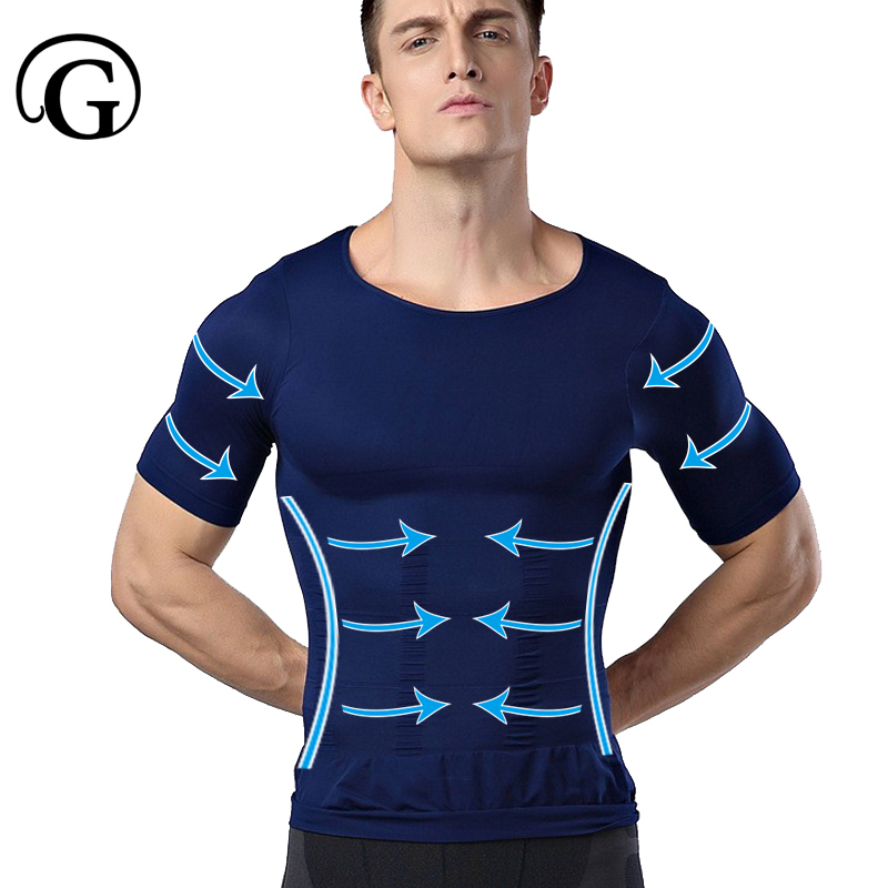 Men Gynecomastia  Shaper Undershirt PRAYGER Slimming Chest Tops Control Waist Tummy Trimmer Corset Correct Posture Underwear