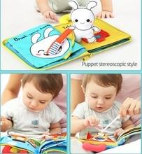 3D Soft Cloth Baby Books Animals and Vehicle Montessori
