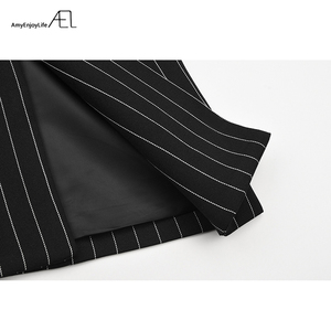 Image 5 - AEL אחד כתף בלייזר נשים חליפת דש פסים Ladys סתיו אופנה 2018 חדש גובה איכות רחוב ללבוש אסימטרית גאות