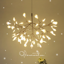 Post Moderne Kronleuchter LED Wohnzimmer Hängen Lampen Kreative Esszimmer  Lichter Nordic Schlafzimmer Leuchten Glühwürmchen Kron.