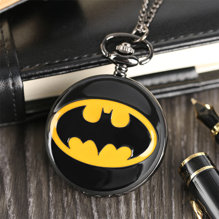 pendant watch, batman pocket watch, birthday gifts for boys, (4)