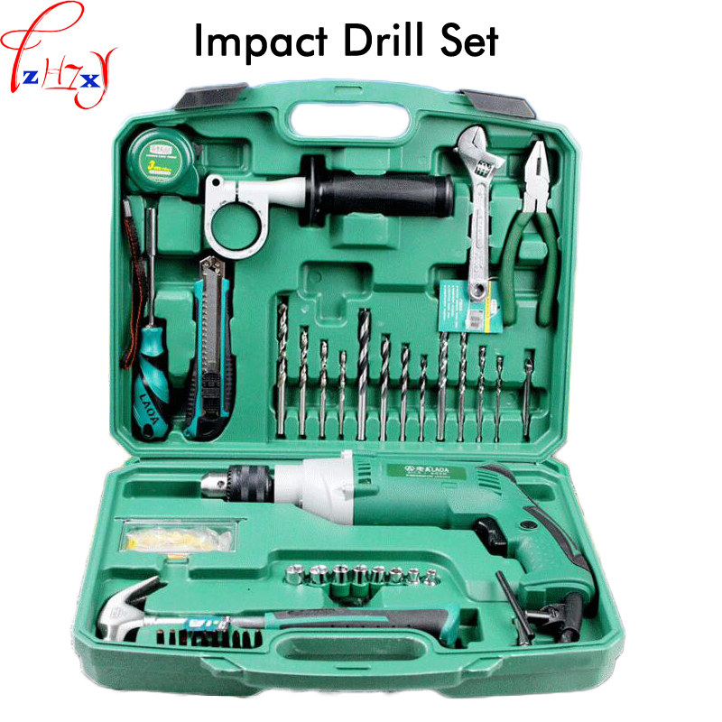 Multi-purpose impact drill for household use LA414413 upholstery drilling wall percussion impact drill set power tools 220V dongcheng 220v 1010w electric impact drill darbeli matkap power drill stirring drilling 360 degree rotation power tools
