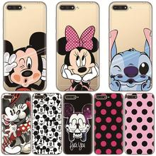 Cartoon Cute Funny Case for Coque Huawei Y6 2018 Case Transparent Protective for Huawei Honor 7A 5.7