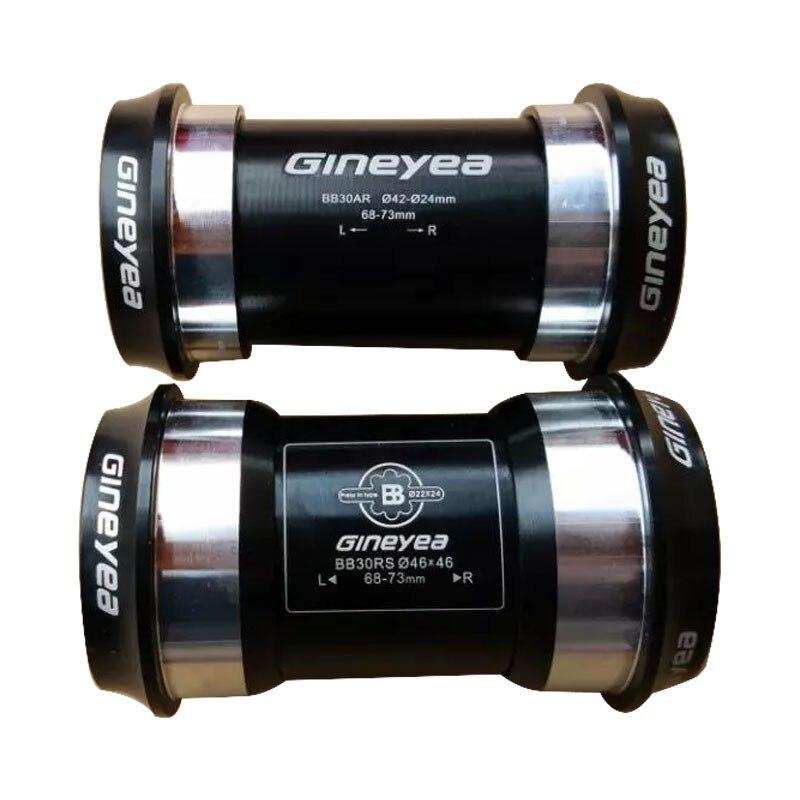 Цена за GINEYEA PF30 BB30 Press Fit нижний кронштейн/7075AL ЧПУ ось/велосипед ось GXP 24 мм/22 мм