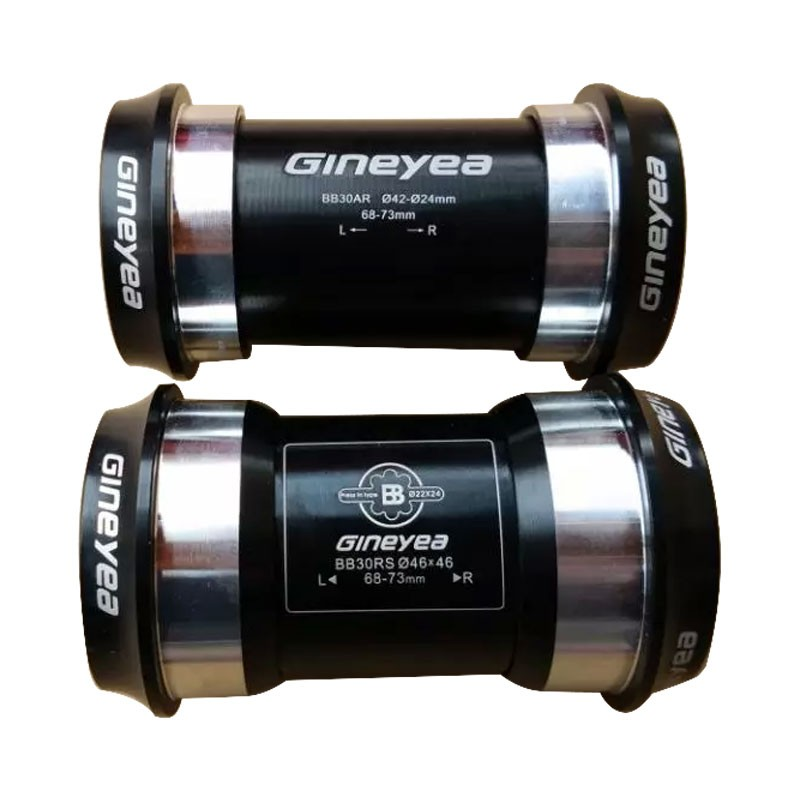 GINEYEA PF30 BB30 Press-Fit pedalier / 7075AL Eje CNC / bicicleta bicicleta eje GXP 24mm / 22mm