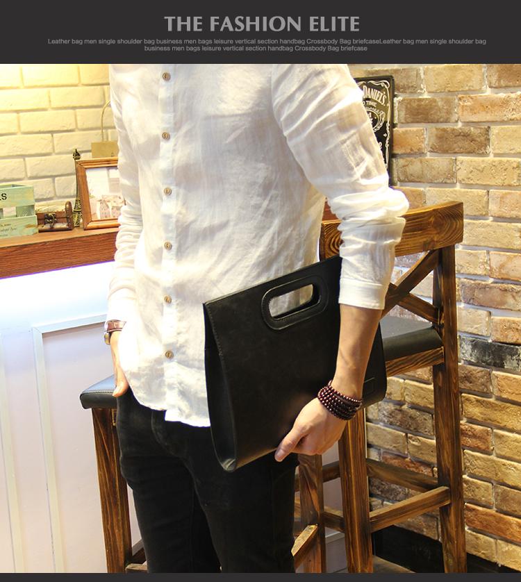 Business Casual Men Leather Designer Handbag High Quality Male Wallet Famous Brand Men's Large Capacity Clutch Bag Brown black 73