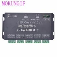 Mokungif簡単6ch dmx 512コントローラー、dc5 24v ledコントローラ用ledストリップ、ledネオン、led器具 -
