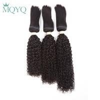 MQYQ Indian Curly Braid In Hair 3pcs Natural Braiding in Bulk Human Hair Weave Bundles Kinky Curly Braiding Hair Extensions