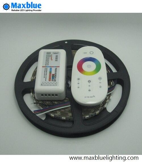 RGBW/RGBWW Светодиодные ленты огни 5 м DC12V 300 шт. 5050smd светодиодный лента с 2,4 ГГц RGBW Wi Fi контроллер комплект - 2