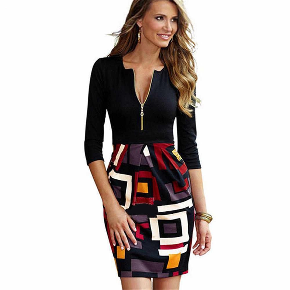 3c6065f8f1b Весеннее платье Винтаж офисные кружевное платье Топы карандаш Женская  одежда Сексуальная Bodycon Повседневная обувь одежда халат