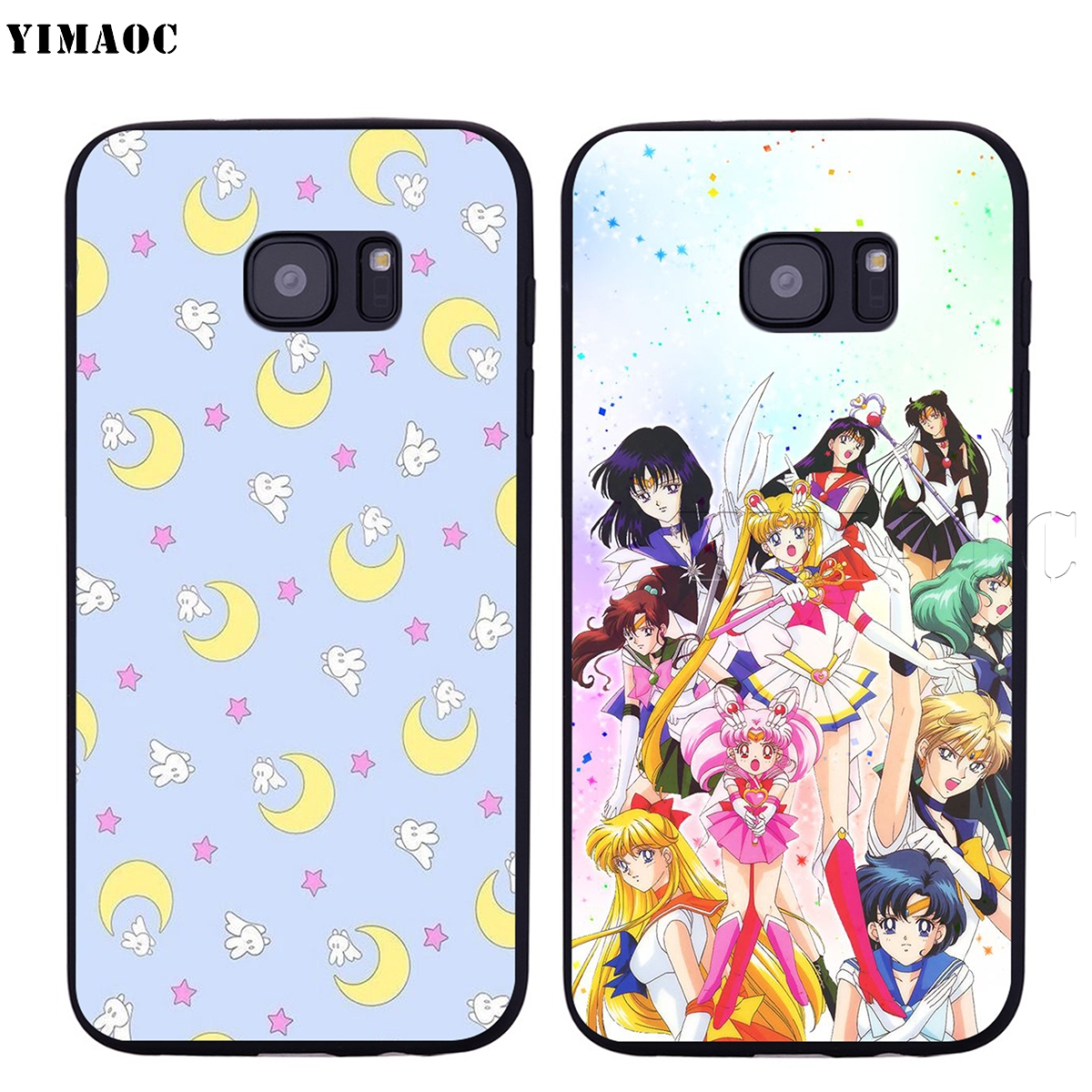 2018 A3 A5 A7 2017 Exquisite Craftsmanship; A8 A8 For Galaxy A8 Case Cartoon Sailor Moon Style Clear Frame Hard Back Case Cover For Samsung A6 A6