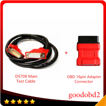 For Autel MaxiDAS DS708 Connect Main Test Cable Car Diagnostic Tool Adapter 16Pin to 15pin Scanner Connector ds708 accessory autel maxisys elite car diagnosis j2534 ecu programing tool faster than ms908p 908 pro free update 2 years on autel website