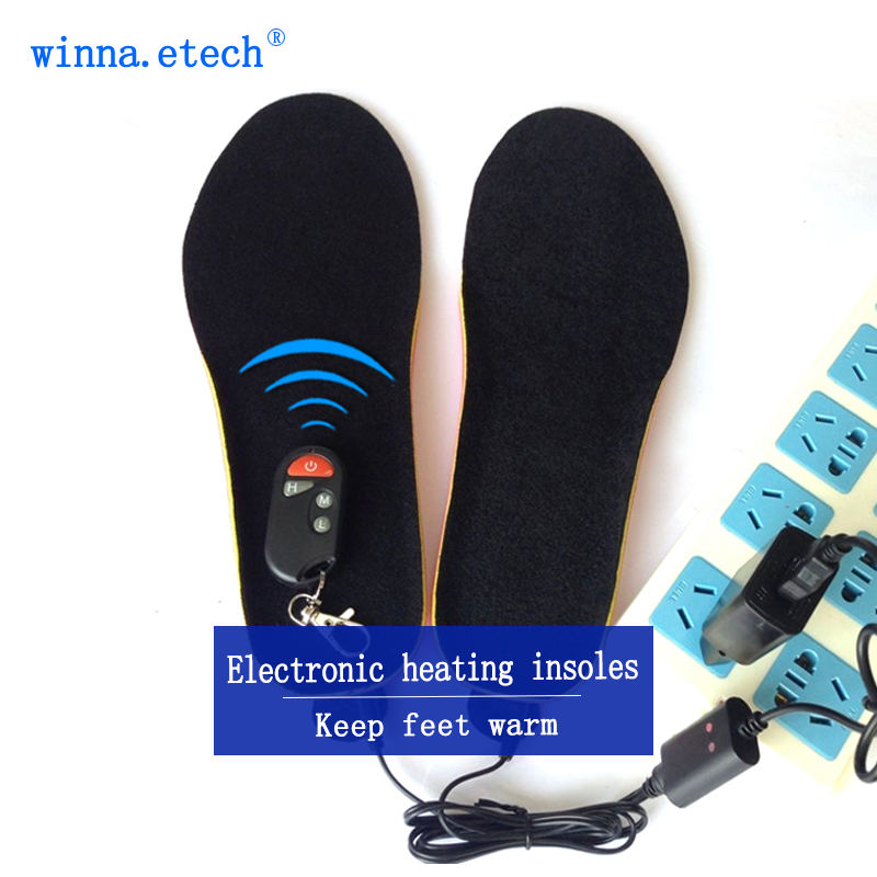 NEW wireless Battery Heating Insoles for men shoes insoles Electric Warmer Insoles preheating insert shoes Accessories