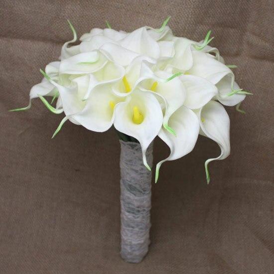 Новое поступление Романтическая Свадьба Невеста 'ы Букет Каллы Невесты Букет Невесты с Цветами в Руках Свадебный Букет