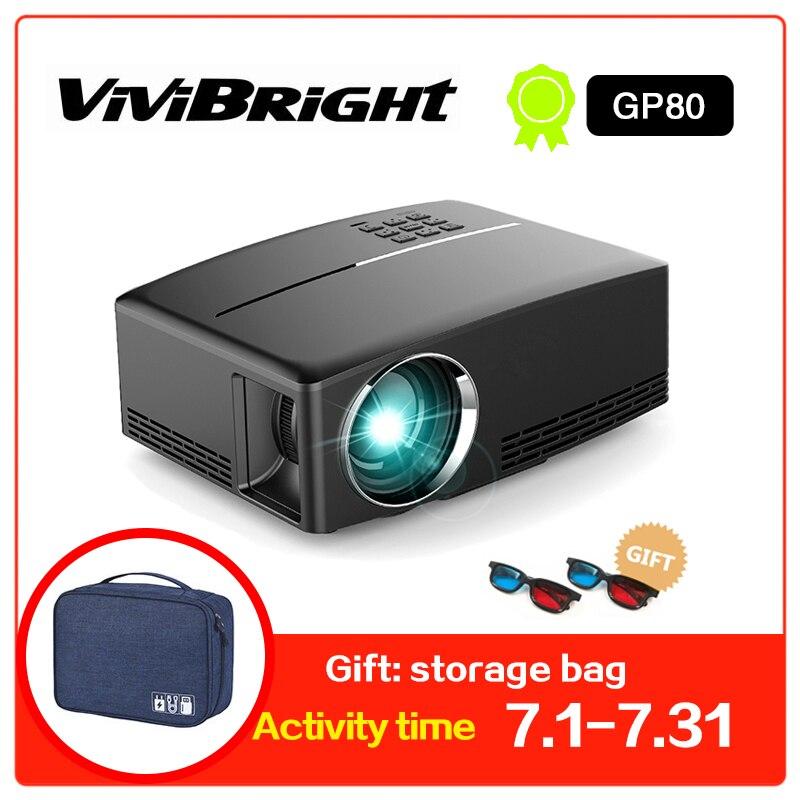 Projecteur HD projecteur LED 1800 Lumens 4 K Android 6.0 LED projecteur vidéo WiFi GP80/GP80UP projecteurs intelligents portables
