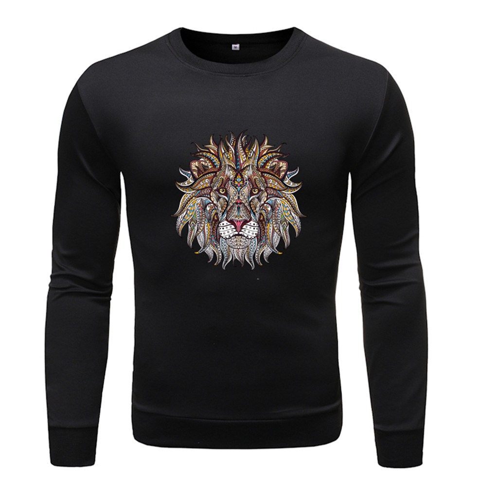 Men Flannel Plaid Shirt Cotton Men s Fashion Long sleeved Round Solid Color Printing Tops Blouse Innrech Market.com