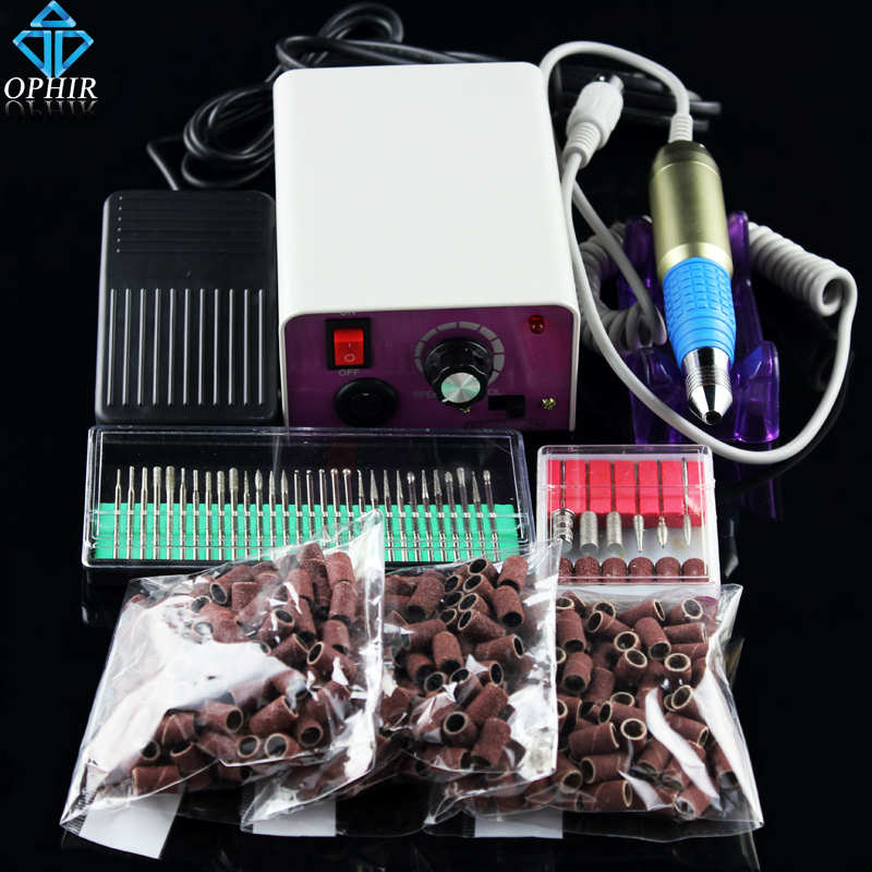 цена на OPHIR Electric Nail Drill Machine 30000RPM Nail Art Equipment 80