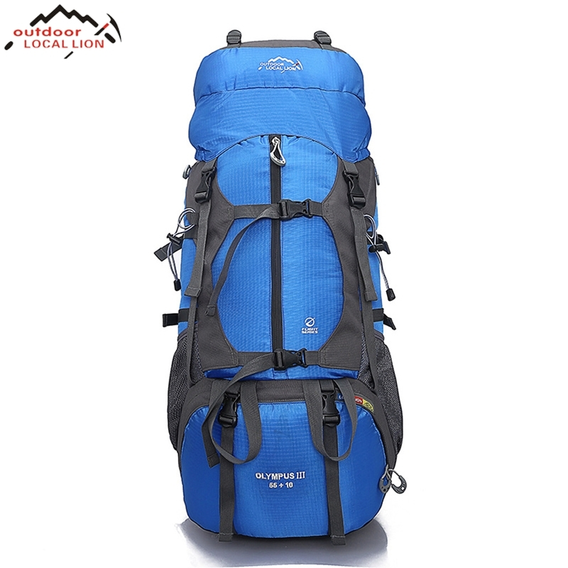 где купить LOCALLION Outdoor Backpack  Water Resistant Sport Backpack Camping Travel Pack Climbing Hiking Waterproof Trekking Bag по лучшей цене