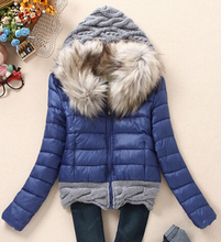 Пуховик хлопок короткая капюшон, женское пуховик с мех воротник женское верхняя одежда для осень зима