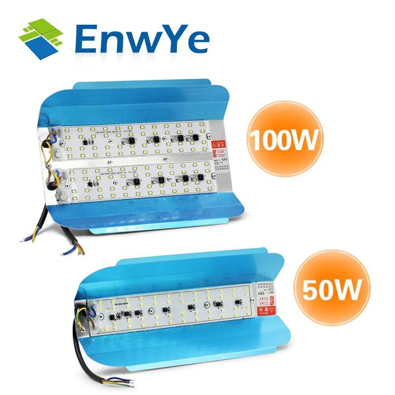 EnwYe led IODE TUNGSTÈNE 50 W 100 W Projecteur projecteur 220 V led Spotlight Refletor led Éclairage Extérieur Gargen Lampe date