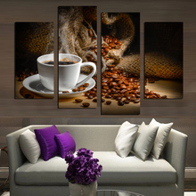 4pcs 5d diy diamond Coffee Beans full square drill embroidery rhinestones painting kit triptych H392