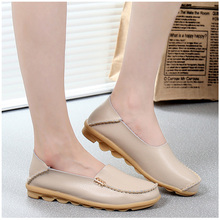 Genuine Leather Women Flats Shoes Female Casual Flat Women Loafers 16 color