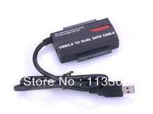50pcs / lots USB 3.0 to SATA HDD Cable Adapter USB3.0 2.5 «/ 3.5» SATA hard drive of 2TB 5 Gbps ,Free shipping By Fedex