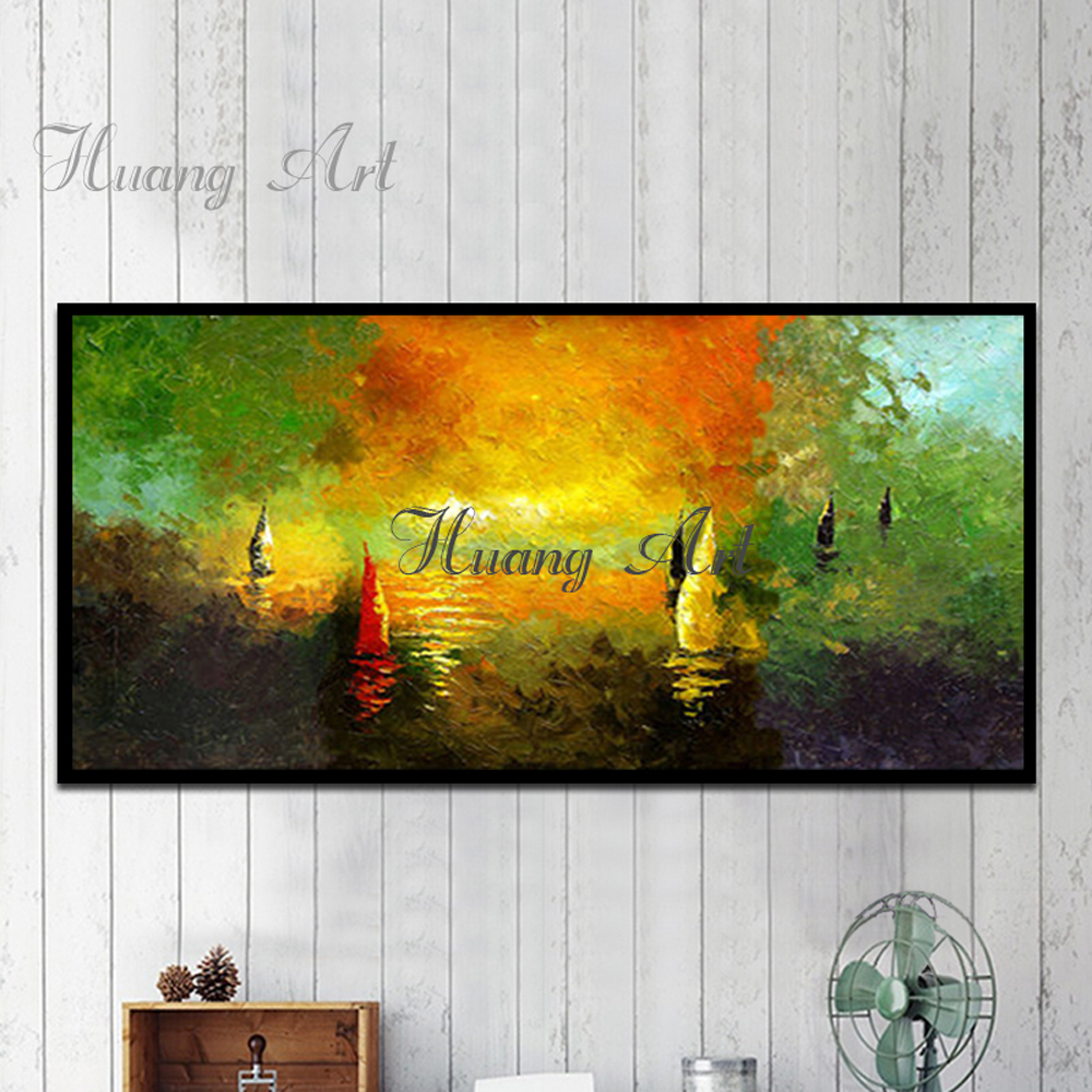 Artist Design Italy Special Ship Gondola Oil Painting for Wall Decor ...