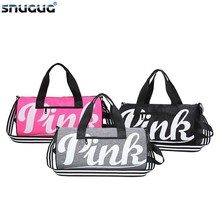 Waterproof Pink Gym Bag Men Canvas Woman Sport For Fitness Training Travel Handbags Outdoor Clothing Girls