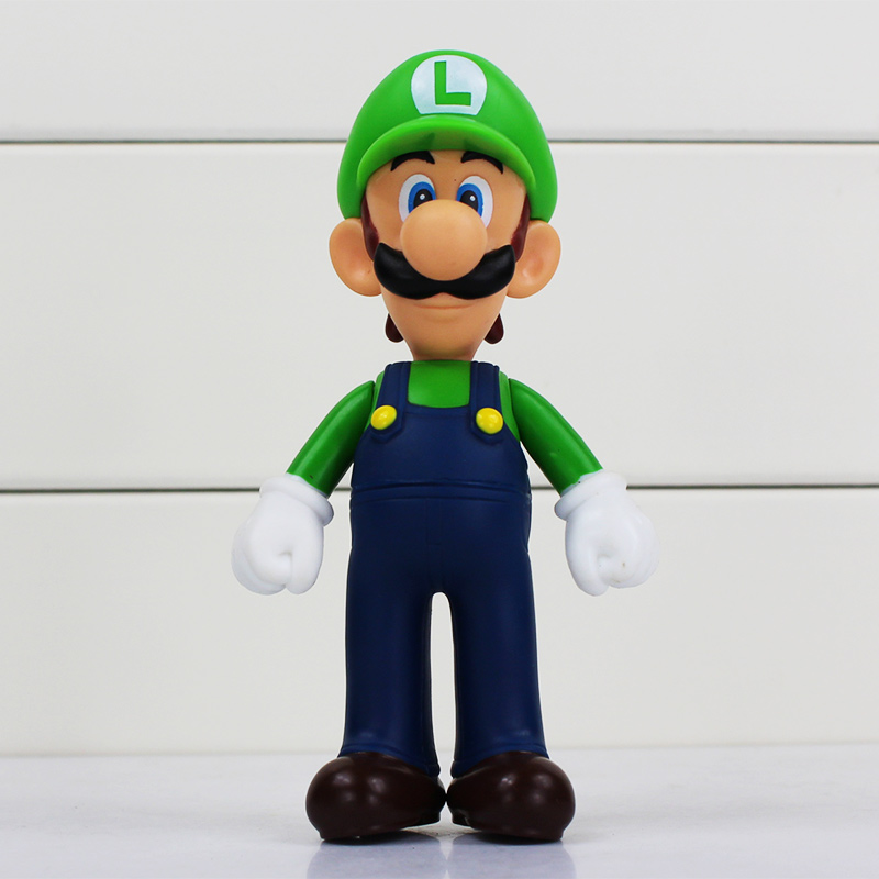 4pcs/lot 13cm Super Mario Bros Luigi Mario PVC Action Figure Toy Doll Cute Gifts For Children Kid 4