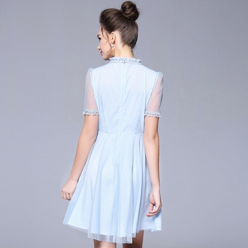 2018 Désordre Taille Femme Robes Élégant Plus Mode Robe Nouveau Ete Summer Mince Hh975 De Party Bleu Blue Sexy 5xl Femmes Style Kmetram 6Hxaqc5Sq
