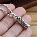 925 Sterling Silver Vintage Bottle Pendant Necklace Jewelry For Men & Wonmen Punk Thai Silver Faith