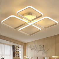 New Modern Design Led Ceiling Lights For Living Room Bedroom Appliances White Color House Square Led Ceiling Lamp lampara techo