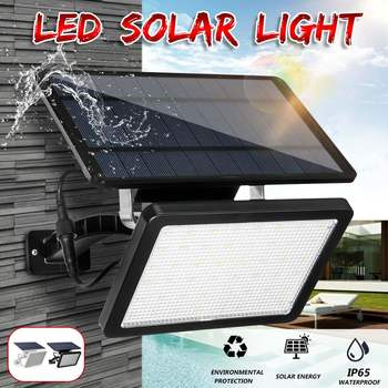 Solar Light for Garden Waterproof Outdoor Lighting LED Solar Panel Powered Lamp Energy Saving Pathway Yard Security Flood Lamp