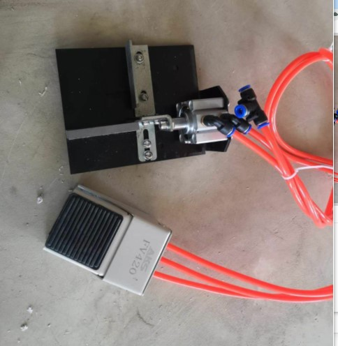 MY-07 мини ручной деревянный ПВХ кромкооблицовочный станок с резки станок для облицовывания кромок ПВХ сам и контроль скорости - Цвет: MY07B w end cutting