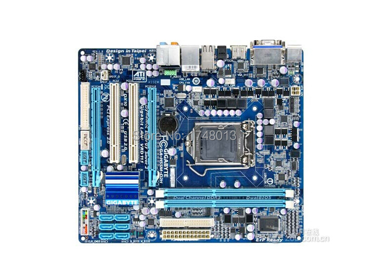 Free shipping original motherboard for Gigabyte GA-H55M-D2H LGA 1156 DDR3 8GB H55M-D2H Micro ATX h55 desktop motherboard