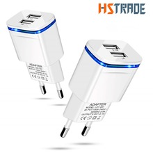 HSTRADE USB Charger 2.1A for iPhone 8 X 7 6 iPad Smart USB W