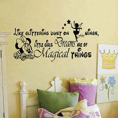 Aliexpress.com : Buy 2017 DIY Little Girls Dreams Quote Minnie Mouse ...