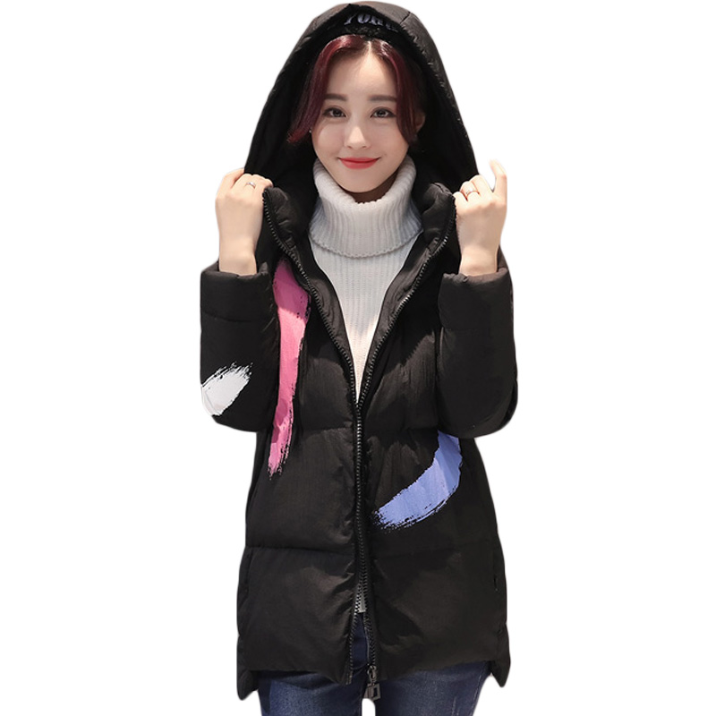 2017 Fashion Women Clothing Pink Black Sweet Cute Winter Warm Quilted Zipper Stand Collar Coat Jacket Padded Outerwear Top XH430