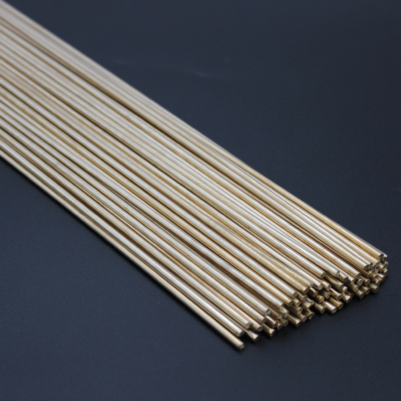 2.5mm X 250mm Brass Rods Bar Hardware Solid Round Rods Wires Sticks For Repair Welding Brazing Soldering