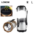 LOMOM LED 6LEDs Solar Camping Lantern Portable Lights Waterproof Camping Lighting Lamp USB Multifunctional Flashlight Outdoor
