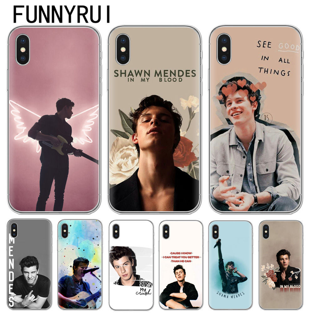 Singer Shawn Mendes Magcon Phone Case For iphone X High Quality Transparent Soft TPU For iphone 5S SE 6 6S 7 8 Plus Case Cover iphone