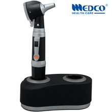 Free shipping Germany quality rechargeable fiber optic otoscope diagnostic kit medical ear