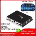 5.1.1 KII PRO caixa de satélite android DVB-T2 DVB-S2 Android Amlogic S905 2G/16G LAN WIFI 802.11AC BT4.0 4 k receptor de satélite