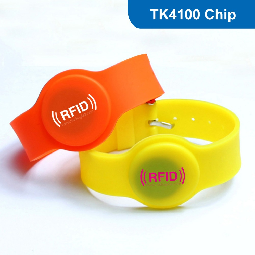 WB05 RFID Silicone Wristband, RFID bracelet Tag for access control RFID Tag for Hotel Lock 125KHZ with TK4100 Chip 1000pcs long range rfid plastic seal tag alien h3 used for waste bin management and gas jar management