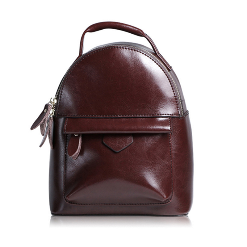 ФОТО High Quality Genuine Leather Women Backpacks  Casual Style Women Backpack